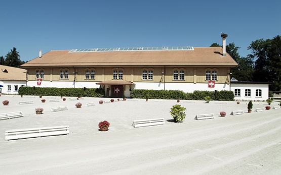 Avenches: View of the inner courtyard and riding hall